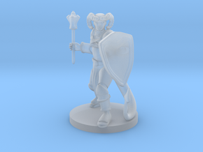 Tiefling Male Cleric in Smooth Fine Detail Plastic