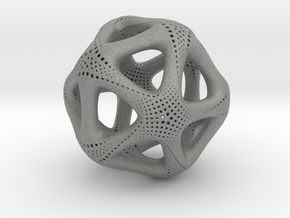 Perforated Twisted Icosahedron Type 1 in Gray Professional Plastic
