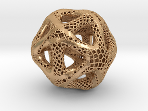 Perforated Twisted Icosahedron Type 2 in Natural Bronze