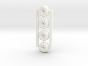 18mm diameter miniature wheels  in White Processed Versatile Plastic