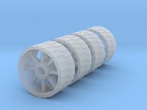 18mm diameter artillery wheels in Smooth Fine Detail Plastic