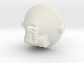 Large Tank Greeble in White Natural Versatile Plastic