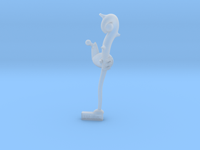 Wizardbot v1.0 - Left Arm with Staff in Smooth Fine Detail Plastic