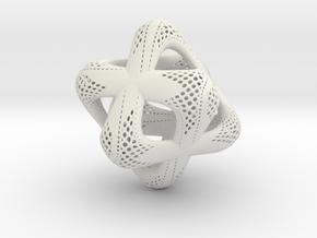 Sacred Merkaba Perforated in White Natural Versatile Plastic