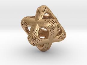 Sacred Merkaba Perforated in Natural Bronze