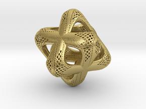 Sacred Merkaba Perforated in Natural Brass