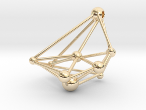 Space pendant in 14K Yellow Gold
