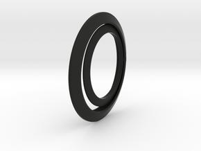 Luna earrings in Black Natural Versatile Plastic