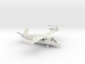 1/144 Scale Bell V-280 Valor On Ground in White Natural Versatile Plastic