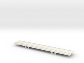 OO GWR Siphon J - Part  3 Roof in White Natural Versatile Plastic
