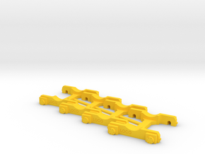 """4 x """"Loco Buggy V 1.0 SPECIAL"""" H0 (1:87) in Yellow Processed Versatile Plastic"""