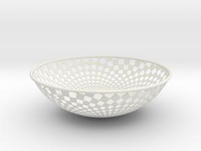 Bowl 1409B in White Natural Versatile Plastic