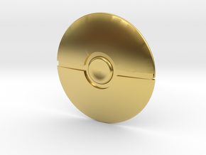 Poke Ball in Polished Brass