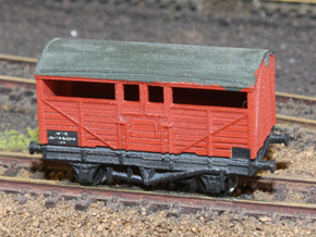 GWR - Mex B - 8 ton cattle wagon in Smooth Fine Detail Plastic
