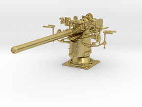 1/48 UBoot 8.8 cm SK C/35 Naval Deck Gun Brass in Natural Brass