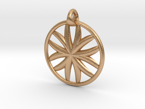 Flower of Life pendant type 1 in Natural Bronze