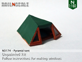 Pyramid tent (N 1:160) in Smooth Fine Detail Plastic