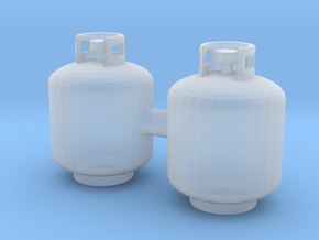 Propane Tank 20 LB in Smooth Fine Detail Plastic: 1:64 - S