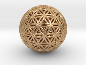 Shrink Wrapped Orb of life in Natural Bronze