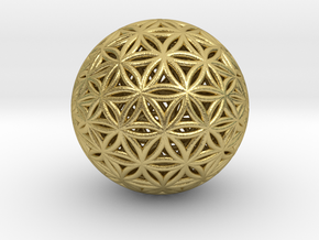 Shrink Wrapped Orb of life in Natural Brass