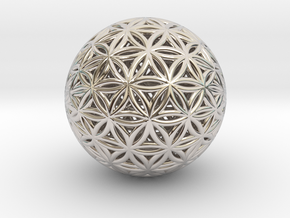 Shrink Wrapped Orb of life in Rhodium Plated Brass