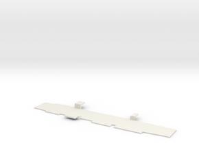 1:720 Scale Nimitz Class Hangar Deck Only in White Natural Versatile Plastic