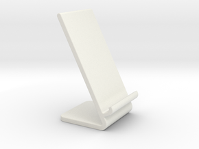Wireless Phone Charging Stand in White Natural Versatile Plastic