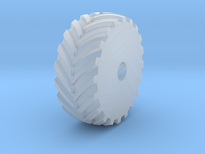 tractor rear wheel 2 in Smooth Fine Detail Plastic