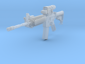 1/12th 4A1Tactical 2 stock retracted in Smooth Fine Detail Plastic