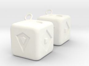Lucky Sabacc Dice in White Processed Versatile Plastic