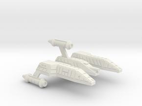 3788 Scale Lyran Refitted Single-Tooth Jaguar CVN in White Natural Versatile Plastic