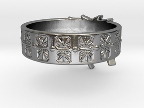 Married to Mary Ring in Polished Silver: 8 / 56.75
