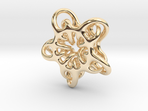 Star Abstract in 14k Gold Plated Brass: Small