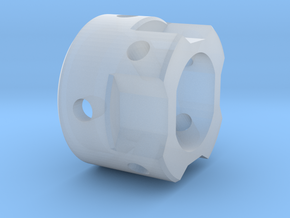 GX12 Connector Holder for side blades MALE in Smooth Fine Detail Plastic