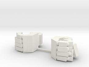 Replacement hands for Combiner Wars Deluxe Prowl in White Natural Versatile Plastic