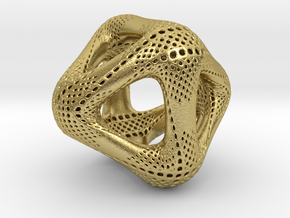 Perforated Octahedron in Natural Brass