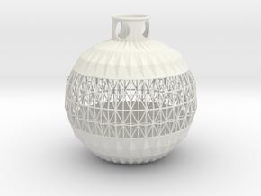 Vase MZN in White Natural Versatile Plastic
