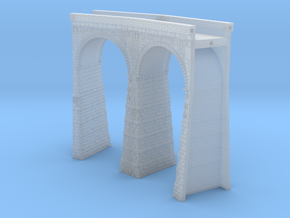 T-scale Stone Viaduct Section - 30d Curve - 145mm  in Smooth Fine Detail Plastic