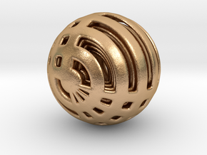 Looped Arrayed Sphere in Natural Bronze