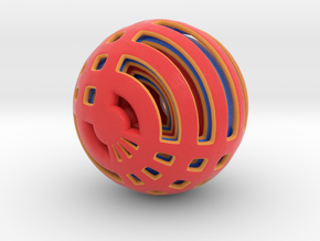 Looped Arrayed Sphere in Matte Full Color Sandstone