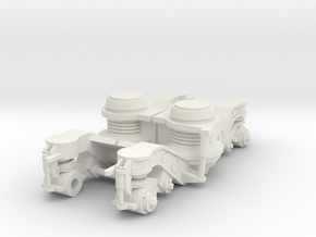 ICR bogie side  Scale 0 (1:45) in White Natural Versatile Plastic