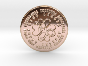 Capricorn Coin of 7 Virtues in 14k Rose Gold Plated Brass