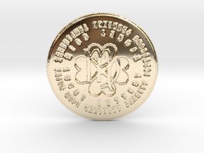 Virgo Coin of 7 Virtues in 14k Gold Plated Brass