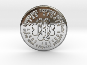 Virgo Coin of 7 Virtues in Fine Detail Polished Silver