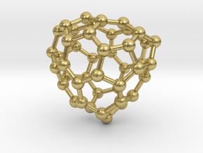 0681 Fullerene c44-53 c1 in Natural Brass