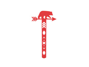 Bookmark in Red Processed Versatile Plastic
