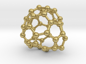 0689 Fullerene c44-61 c1 in Natural Brass