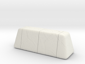 Cracked Concrete Barrier (21mm) in White Natural Versatile Plastic