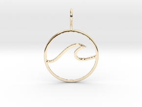 Wave Pendant in 14K Yellow Gold