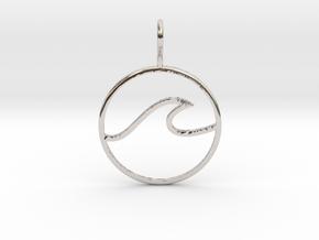 Wave Pendant in Platinum